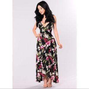 Fashion Nova Floral Maxi Dress